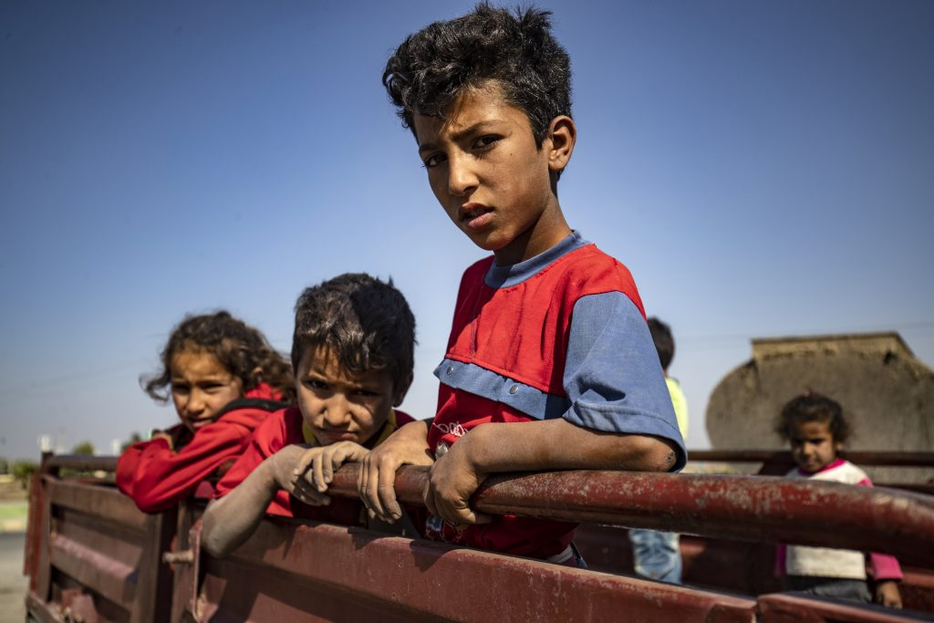 Children displaced by violence