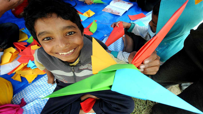 Photos: A safe space for children in the heart of Kathmandu
