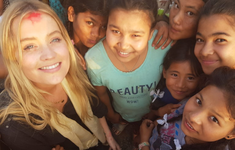 TV's Laura Whitmore moved by brave teen earthquake-survivor in Nepal