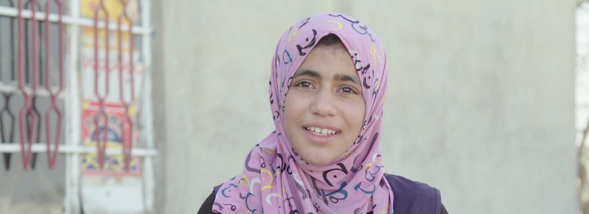"""School is a mother: it teaches us"" says Nisreen, aged 13, from Iraq"