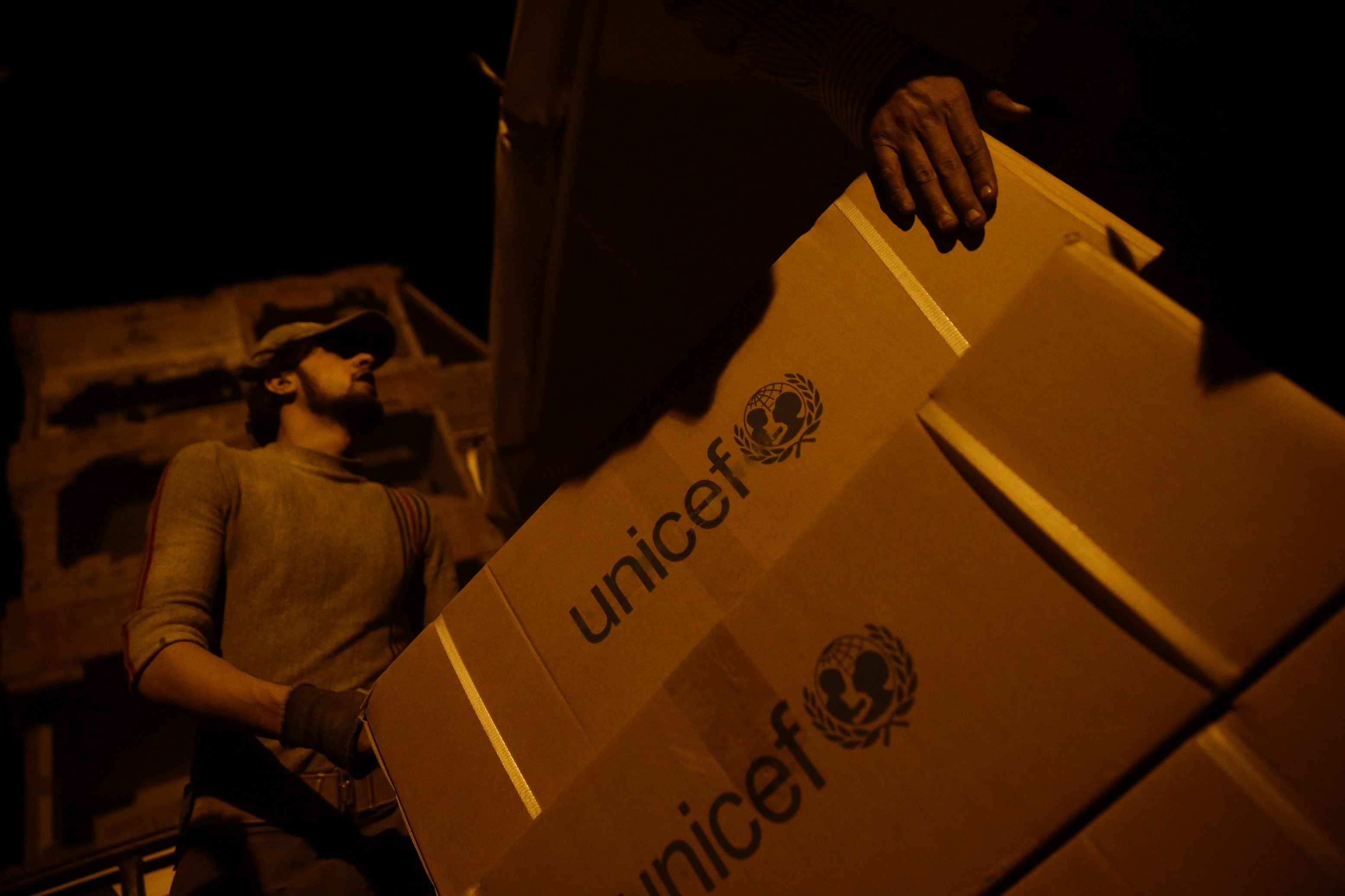 UNICEF reaches children in besieged Syrian city with first aid in months