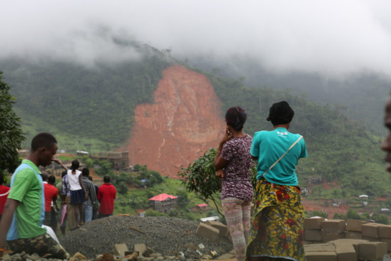 On the ground in Sierra Leone after mudslide sweeps away homes