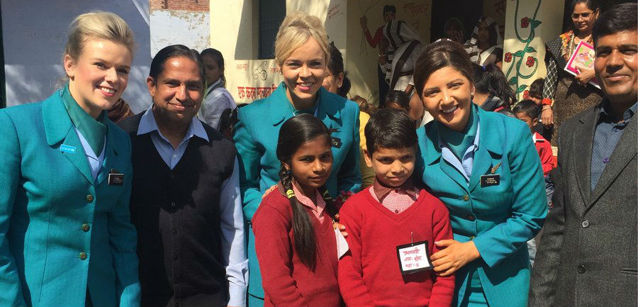Aer Lingus' UNICEF Ambassadors travel to India
