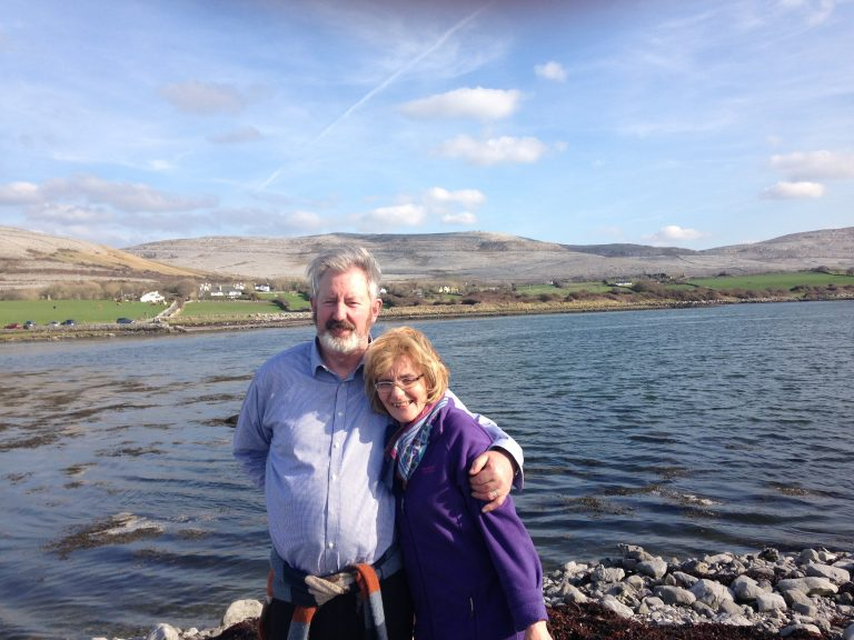 marian killeen standing beside the sea