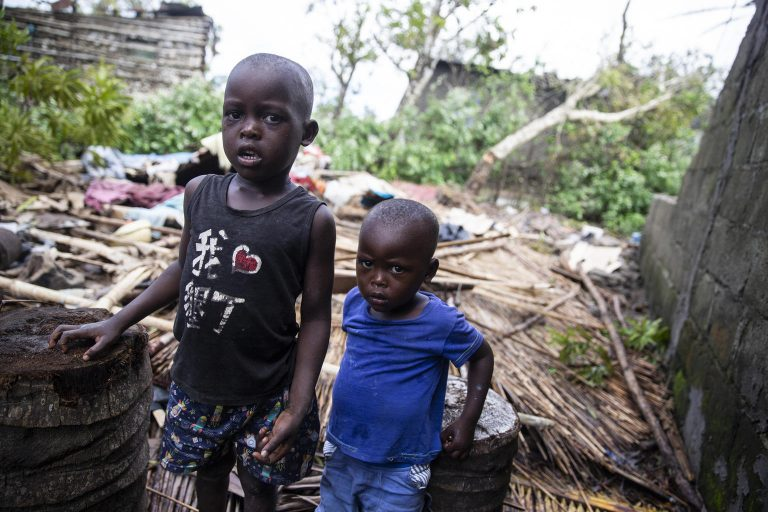 Children affected by Cyclone Idai